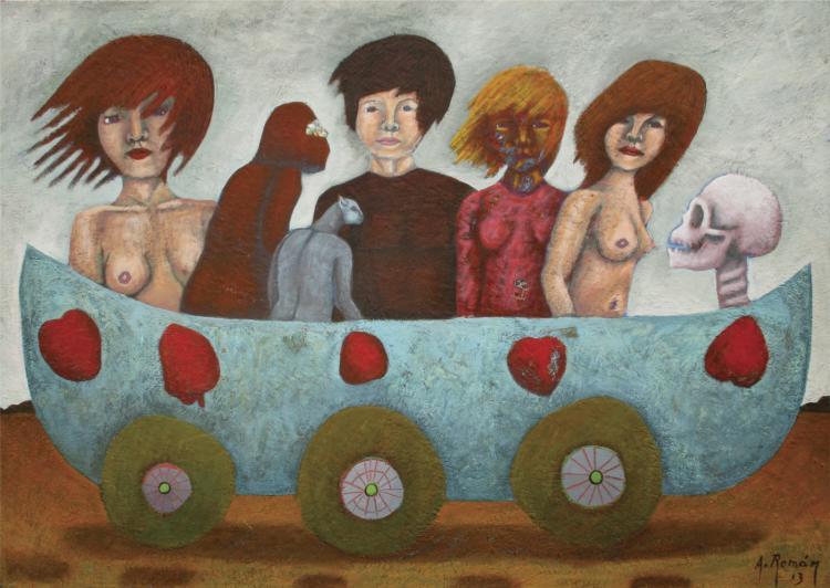 Till We Meet Again, Acrylic on Canvas Original Romani