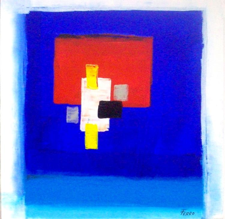 Blue Vision-Acrylic on Canvas by Alfonso Ferro