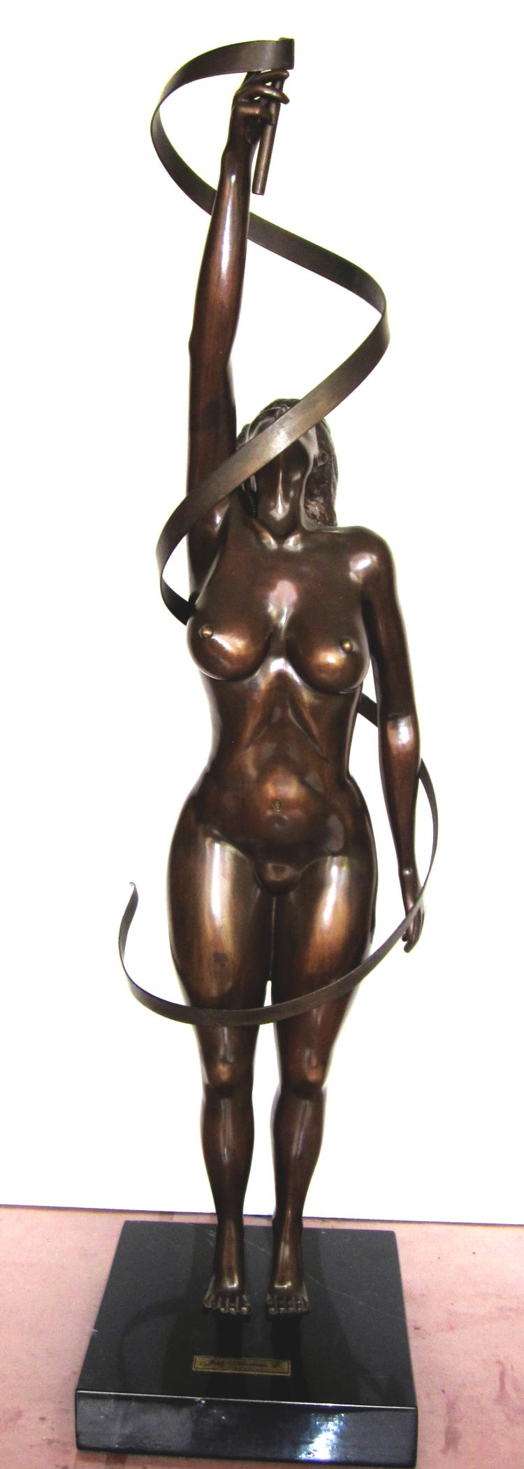Bronze Cast Sculpture by Alvarez