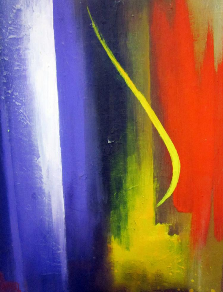 Candle Breeze- Original Mixed Media-High End Mexican Master-Modern Art