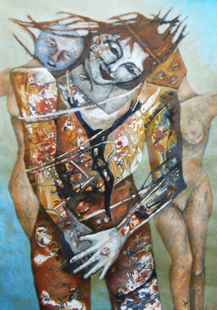 Tempting My Imagination-Acrylic Original-Romani