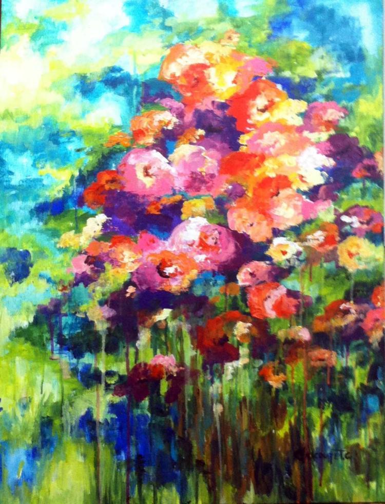 Fragrance- Acrylic on Canvas Original- Alexandra Macouset