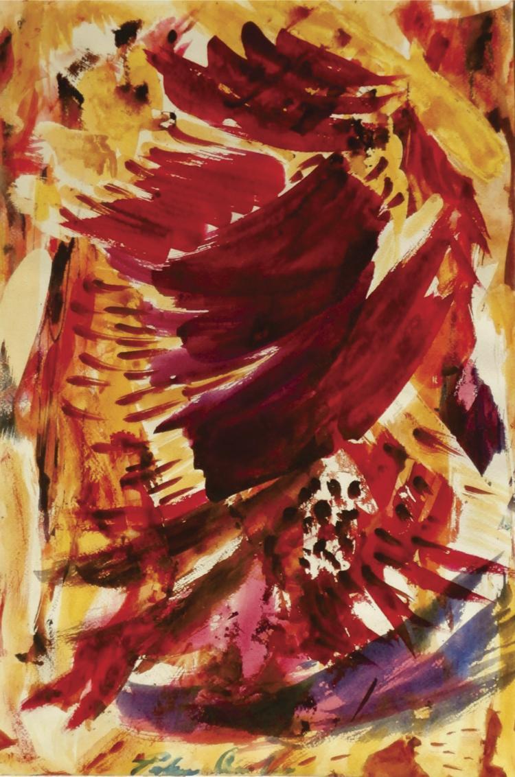 Flight-Watercolor on Archival Paper by Cardona Cuevas