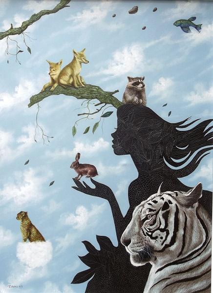 Original Edurardo Talledos Mexican Surrealist