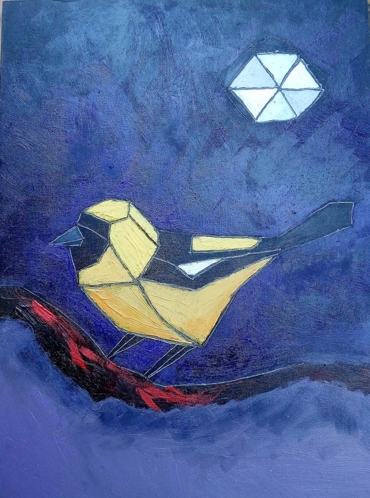 Original Oil on Woodboard by Lourdes Bonilla