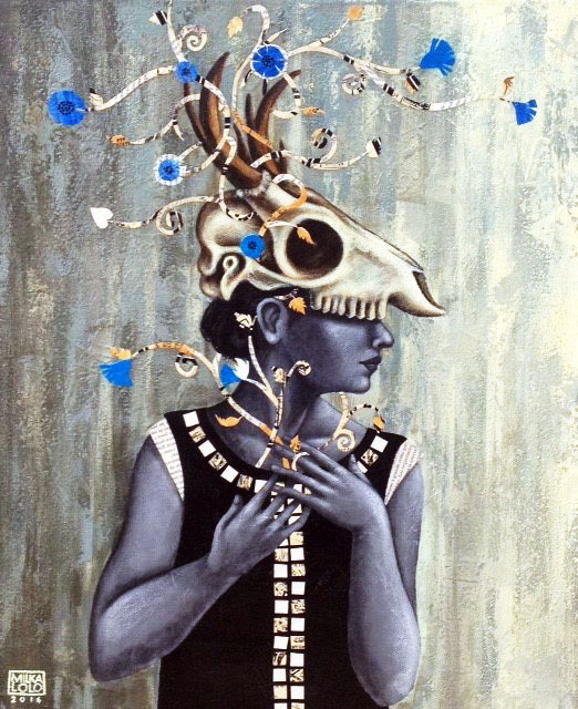 Silent Memories of Light Heart- Mixed Media on Canvas- Milka LoLo