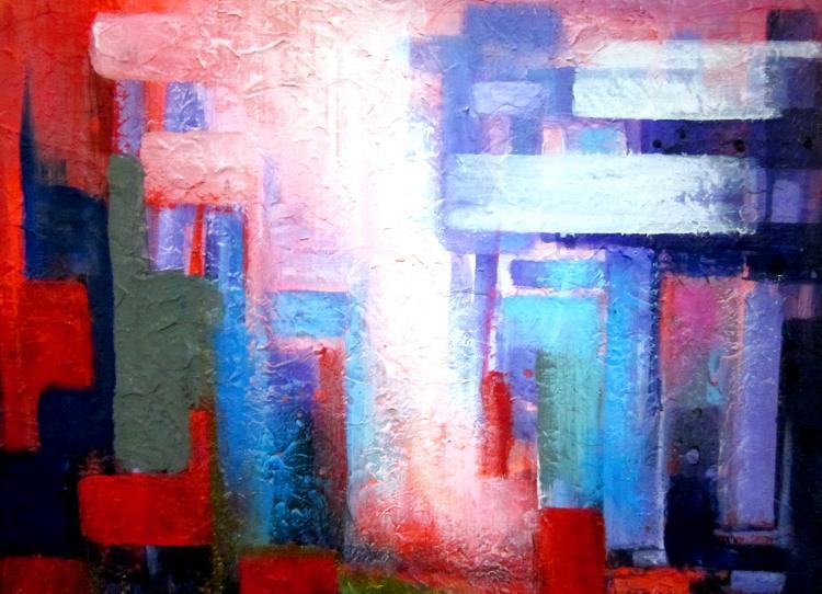Cubic Exaltation- Original Mixed Media-High End Mexican Master-Modern Art