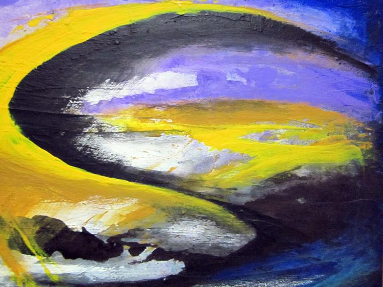 Sky Paths- Original Mixed Media-High End Mexican Master-Modern Art