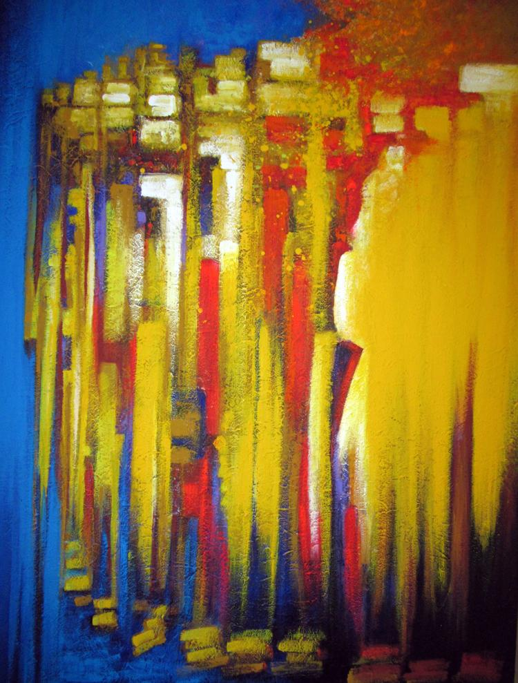 Profiles- Original Mixed Media-High End Mexican Master-Modern Art