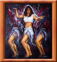 Magic Forest- Oil on Canvas- Oscar Luis Vega Meixueiro