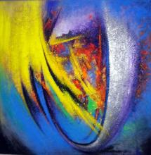 Original Acrylic on Canvas Romani
