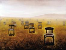 Oil Original on Canvas by Surrealist Diego Perez