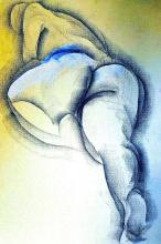 Original Pastel Drawing on Archival Paper-Human Form