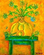 Mexican Folk Art- Original Oil on Canvas by Esau Andrade