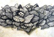 Original Ink on Archival Paper & Wood, by Emanuel Smer.