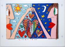 James Rizzi,Coloured lithograph - Hand-signed – 1989