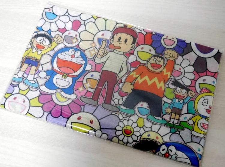 Exclusive 2017 Takashi Murakami x Doraemon Collaboration Big Fabric Cloth Japan