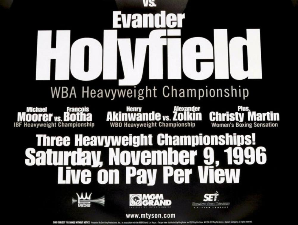 36 x 24 MIKE TYSON EVANDER HOLYFIELD Poster Boxing Heavyweight Boxing Poster A