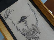 Salvador Dali, drawing Quixote, 1978