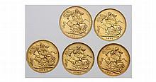 Gold coins, United Kingdom, Australia