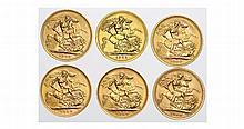 Gold coins, United Kingdom