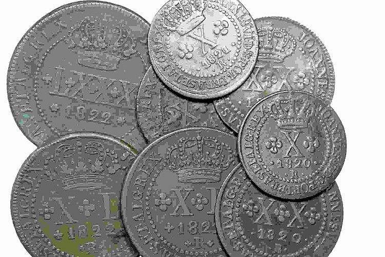 Brazil - D. João VI - 8 coins, X, XX, XL, LXXX Réis 1819-22