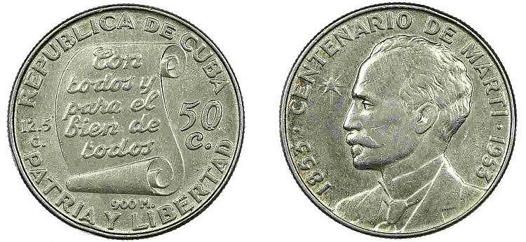 Cuba - 50 Centavos nd (1953)
