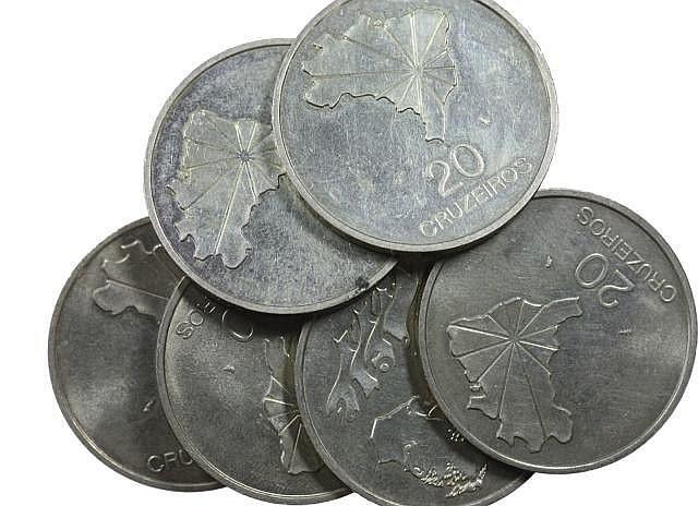Brazil - 6 coins, 20 Cruzeiros 1972