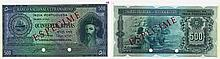 Paper Money - Portuguese India 500 Rupias 1945 ESPÉCIME