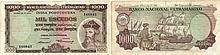 Paper Money - Portuguese India 1000$00 1959