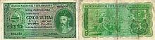 Paper Money - Portuguese India 5 Rupias 1945