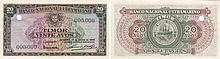 Paper Money - Timor 20 Avos 1948 TEST
