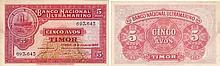 Paper Money - Timor 5 Avos 1940
