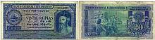 Paper Money - Portuguese India 20 Rupias 1945