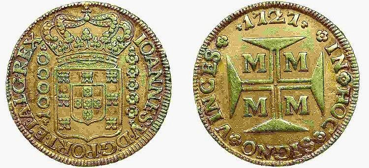 Brazil - D. João V - 1/2 Dobrão 1727 M
