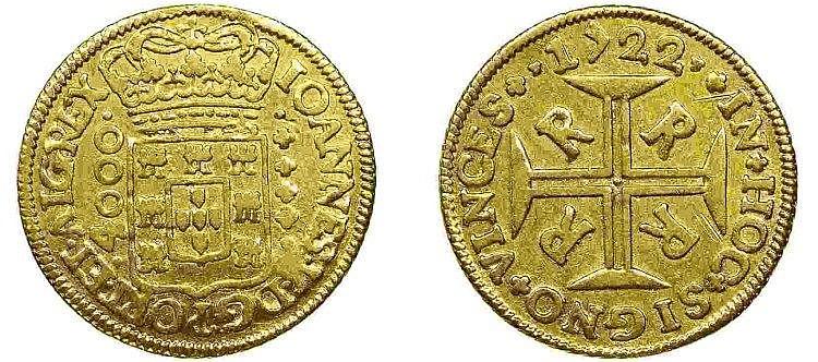 Brazil - D. João V - Moeda 1722 R