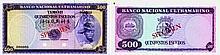 Paper Money - Timor 500$00 SPECIMEN