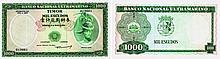 Paper Money - Timor 1000$00 1968