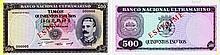Paper Money - Timor 500$00 1959 ESPÉCIME