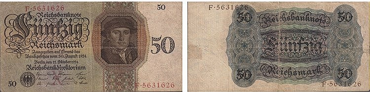 Paper Money - Germany 50 Reichsmark 1924