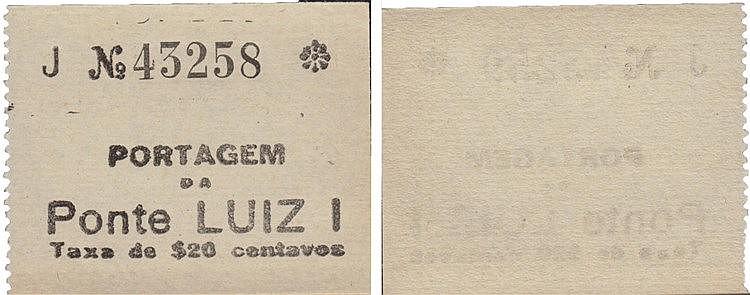 Cédula - Porto 20 Centavos N/D