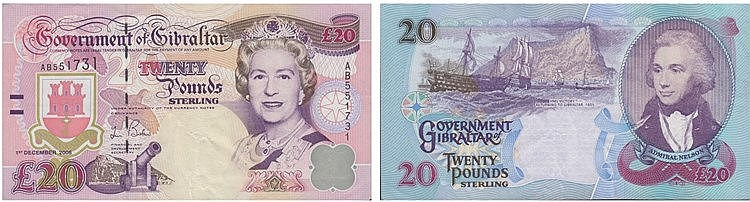 Paper Money - Gibraltar 20 Pounds 2006