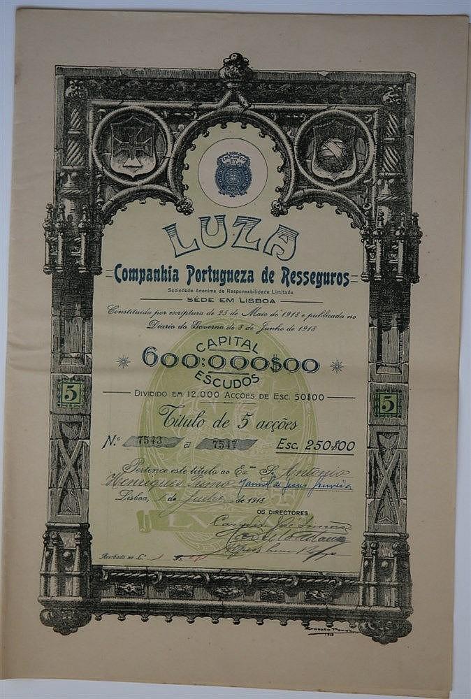 Título de Acção - 250$00 1918