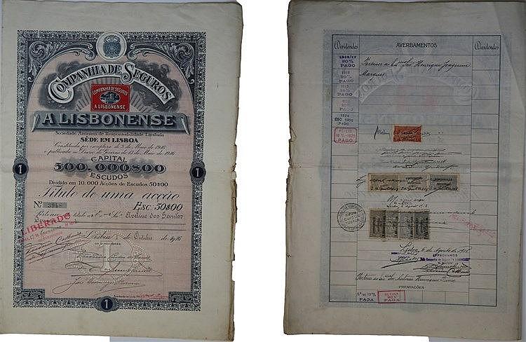 Título de Acção - 50$00 1916