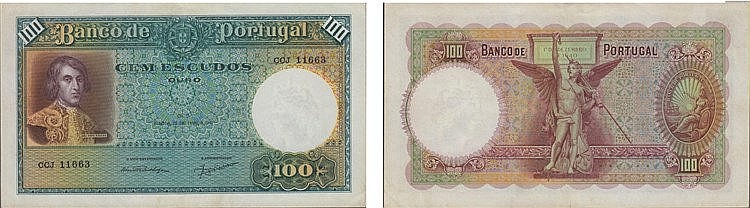 Paper Money - Portugal 100$00 ch. 5 1941