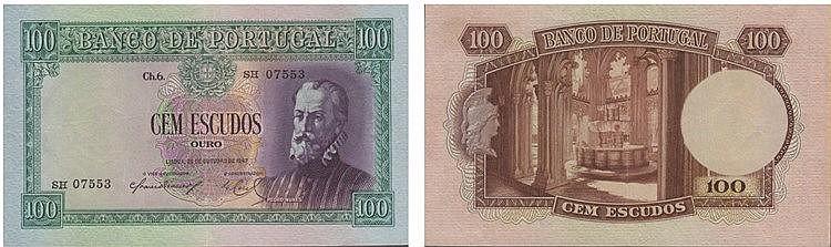 Paper Money - Portugal - 100$00 ch. 6 1947