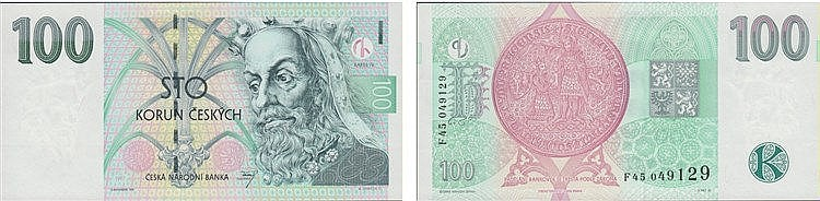 Paper Money - Czech Republic 100 Korun 1997