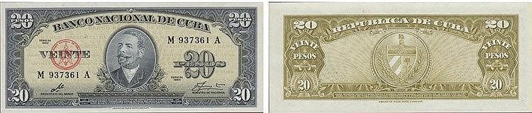 Paper Money - Cuba 20 Pesos 1960