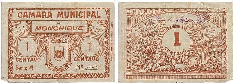 Cédula - Monchique 1 Centavo N/D