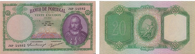paper Money - Portugal 20$00 ch. 6 1948